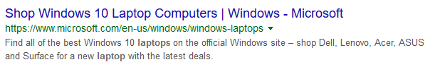 meta description Microsoft
