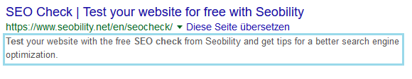 meta description Seobility