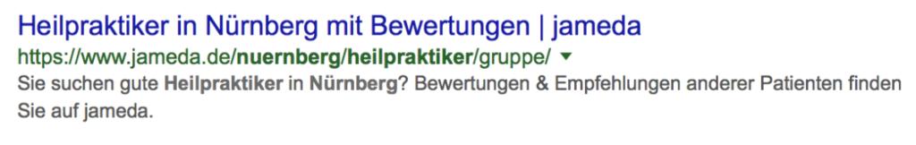 Suchergebnis_TitleTag_HeilpraktikerNuernberg_Keywordanalyse