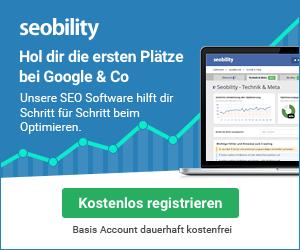 seobility kostenlose Registrierung