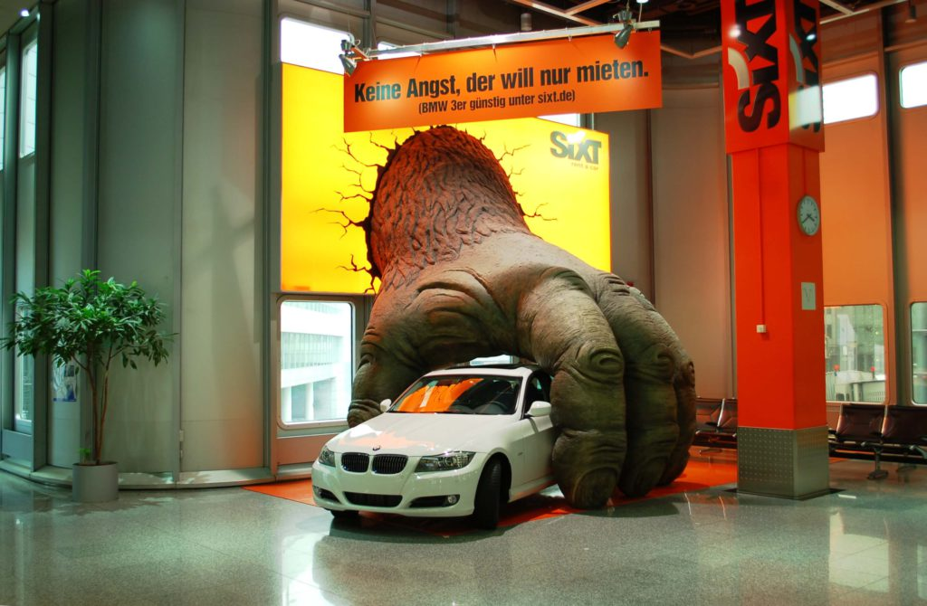 Beispiel - SIXT: Guerilla-Marketing
