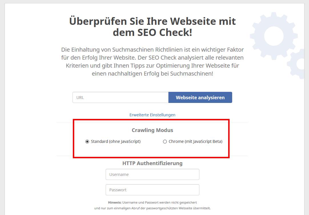 SEO Check JavaScript Crawling