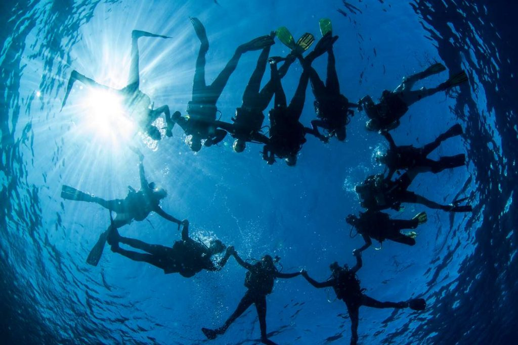 Taucher im Roten Meer