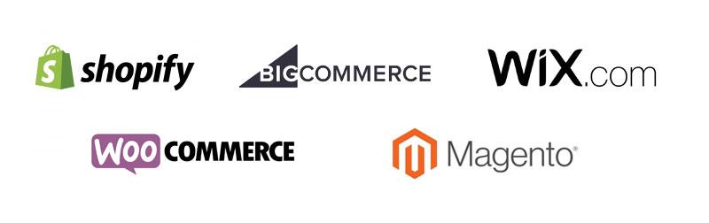 Ecommerce Plattformen Logos