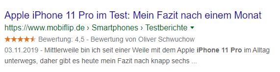 Review Snippet von mobiflip.de