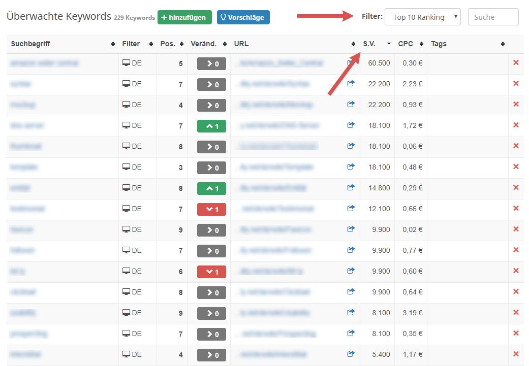 seobility ranking monitoring