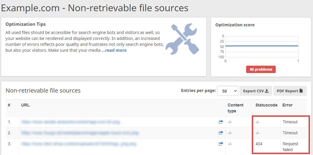 non retrievable file sources