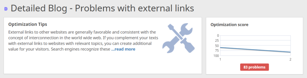 Probleme mit externen Links