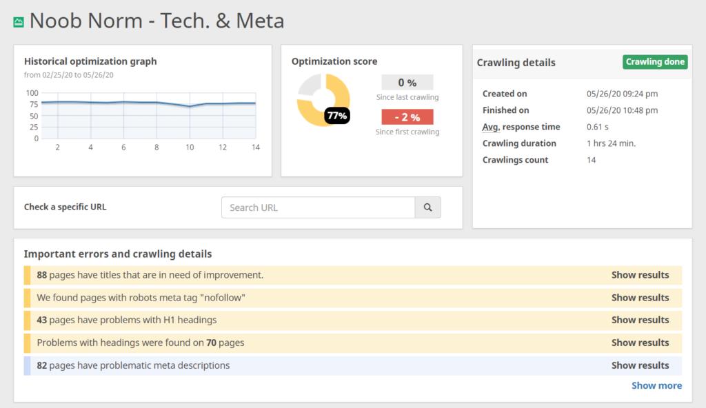 Erster Score für Technik und Meta