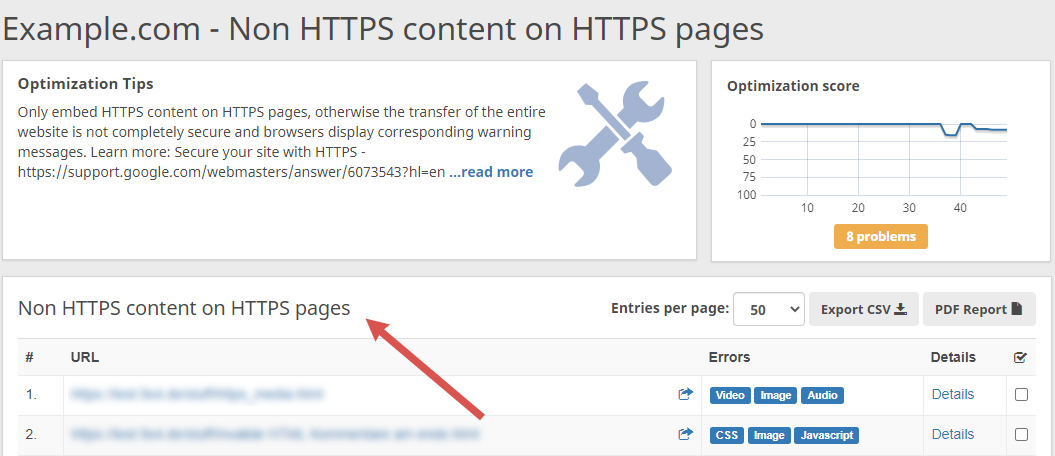 non https content on https pages