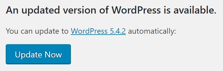 WordPress Update mit nur einem Klick