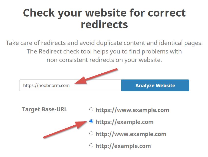 redirect check