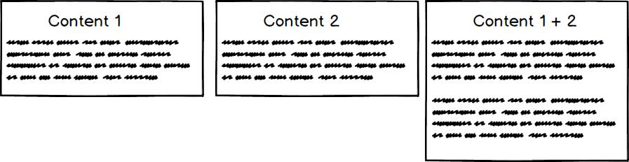 content merge