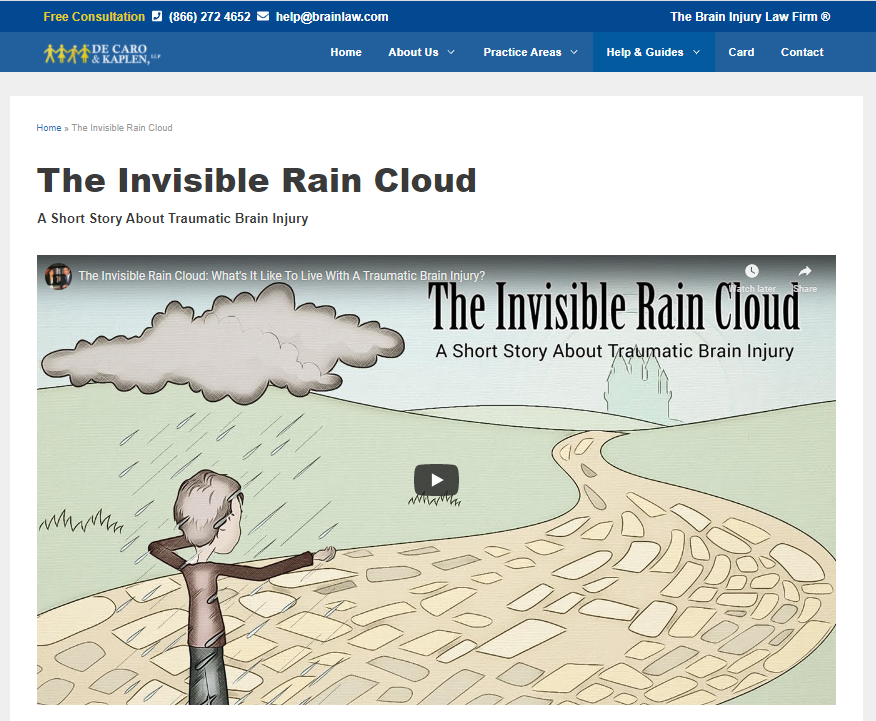invisible rain cloud