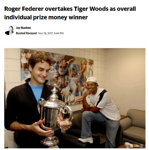 roger federer overtakes tiger woods
