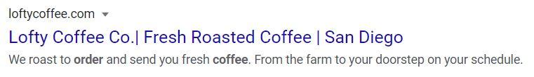 lofty coffee