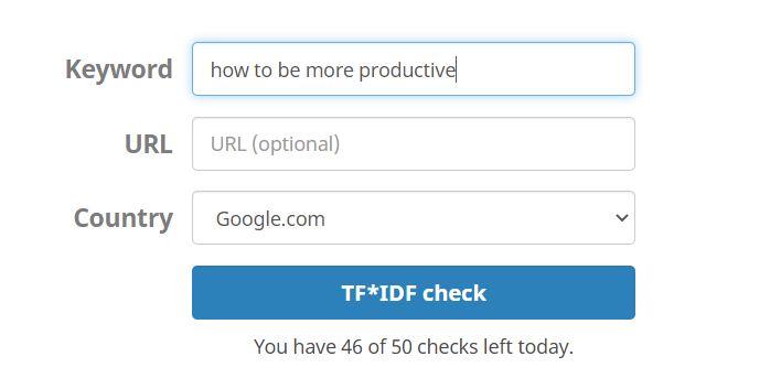 tf-idf tool