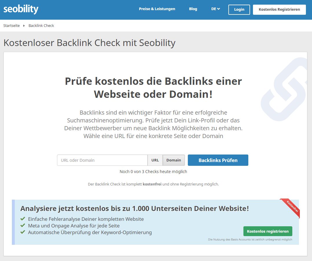 backlink check