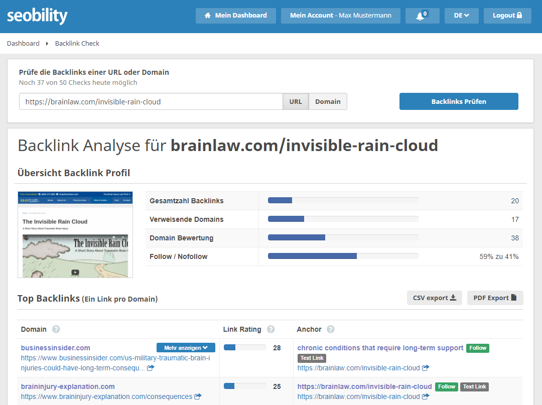 backlinks invisible rain cloud