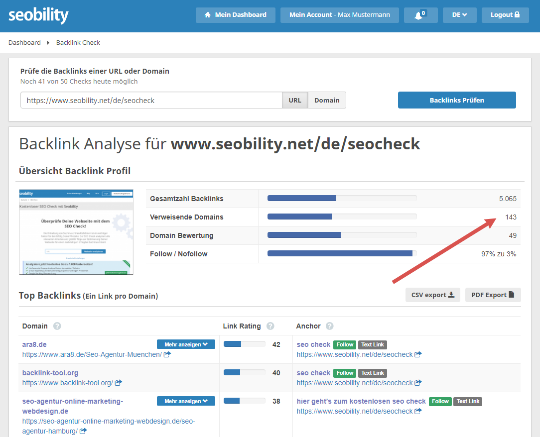 backlinks seo check