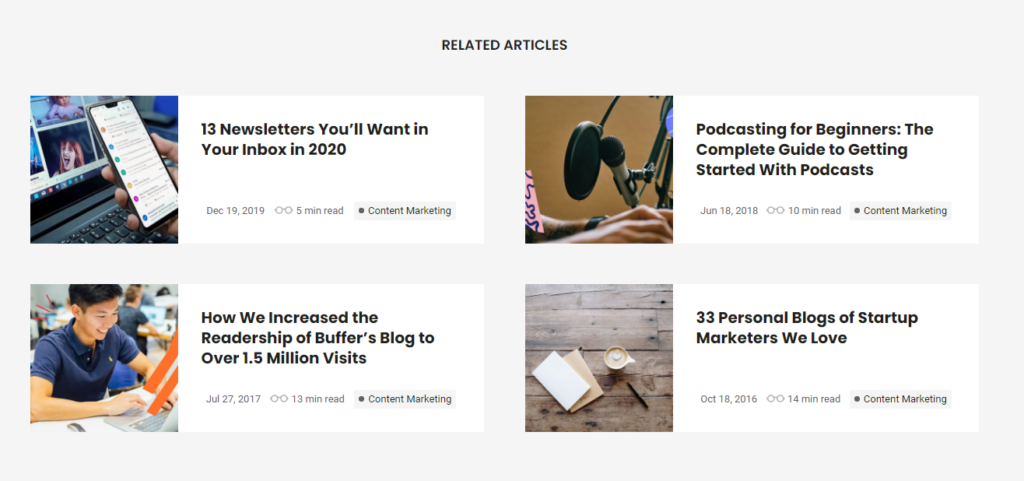 buffer - related articles