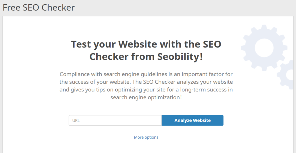seobility seo checker