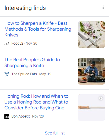 google interesting finds