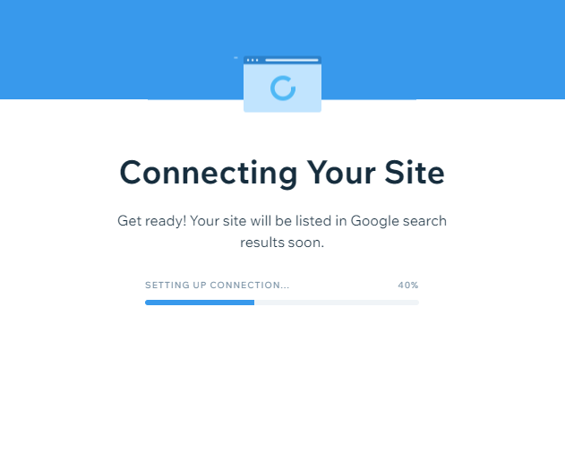 wix connecting site to google
