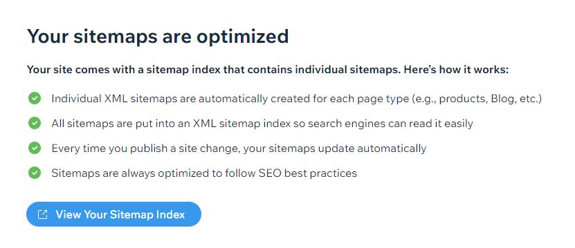 wix sitemaps