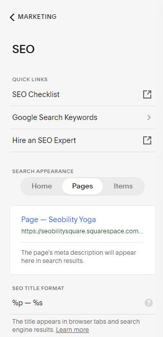 squarespace default title formats