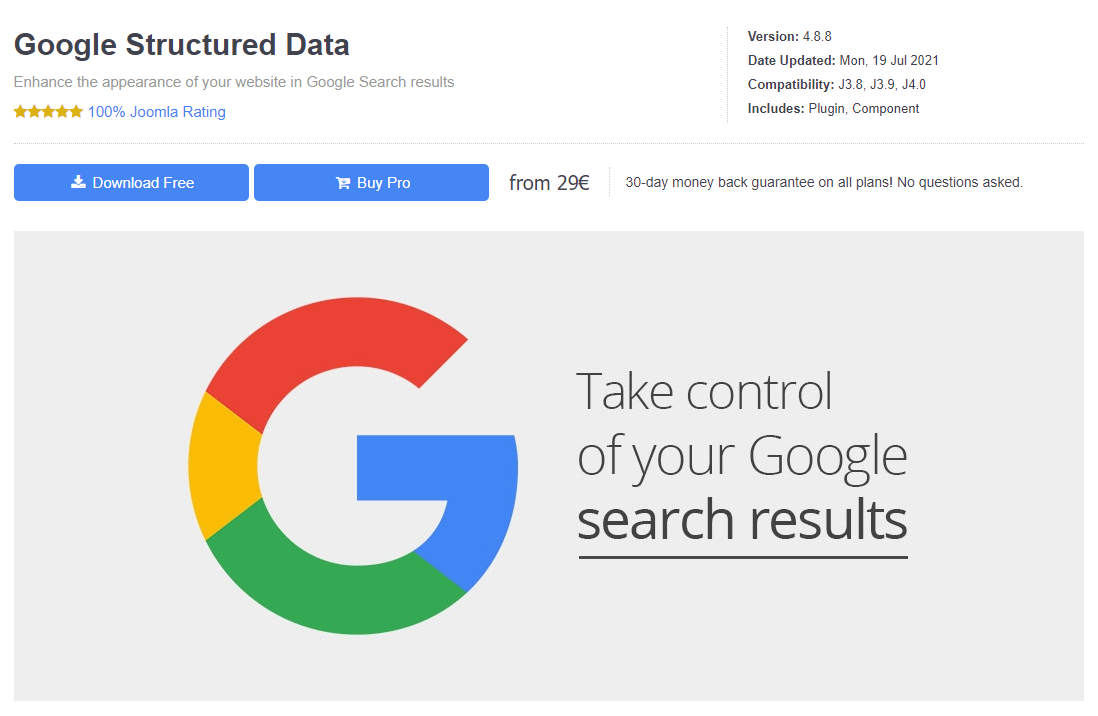 structured data extension for joomla